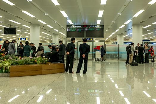 Ankunft in Pjöngjang
