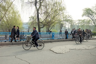 Radfahrer, Pjöngjang, Nordkorea