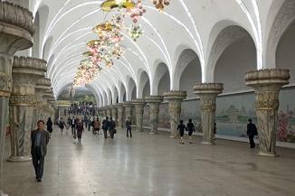 U-Bahn, Metro, Subway, Pjöngjang, Nordkorea