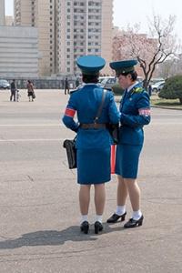 Polizistin, Pjöngjang, Nordkorea