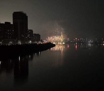 Feuerwerk, Nordkorea, Pjöngjang, 105. Geburtstag, Kim Il Sung