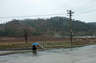 Nordkorea, Berge, Regen