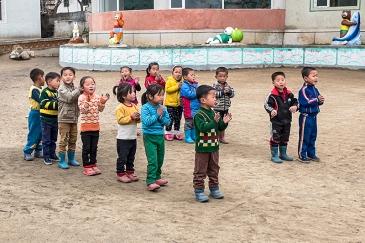 Nordkorea, Wonsan, Landwirtschaft, Kooperative, Kindergarten