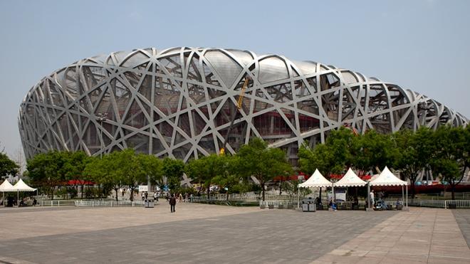 Nationalstadion Peking,Olympiastadion, Herzog & de Meuron, China, Architektur